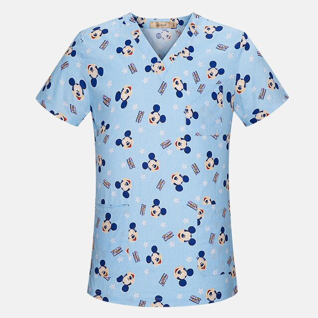 Breathable Mickey Hospital Nurse Scrub