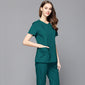 Women Concealed Zipper Fashion Scrub Top