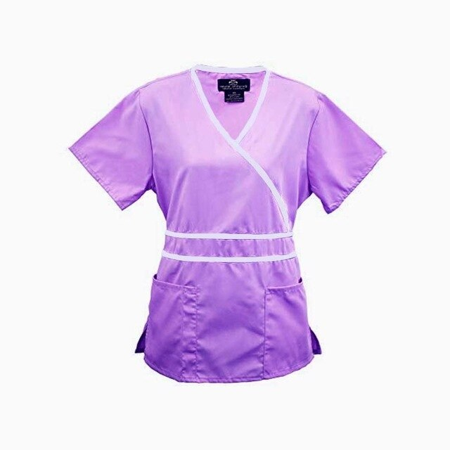 Adjustable Waist Tie Nurse Scrub