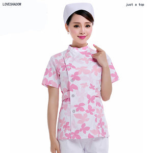 Maple Leaf  Women Side Opening Nurse Fashion Scrub Top