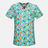 Hospital Cartoon Nurse Scrub Top