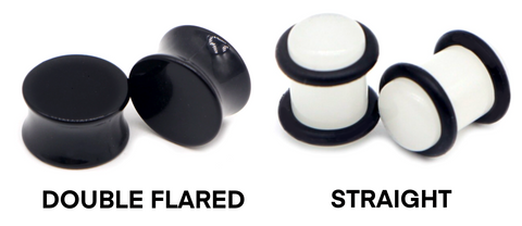 Ear Plug Shape Flared Straight