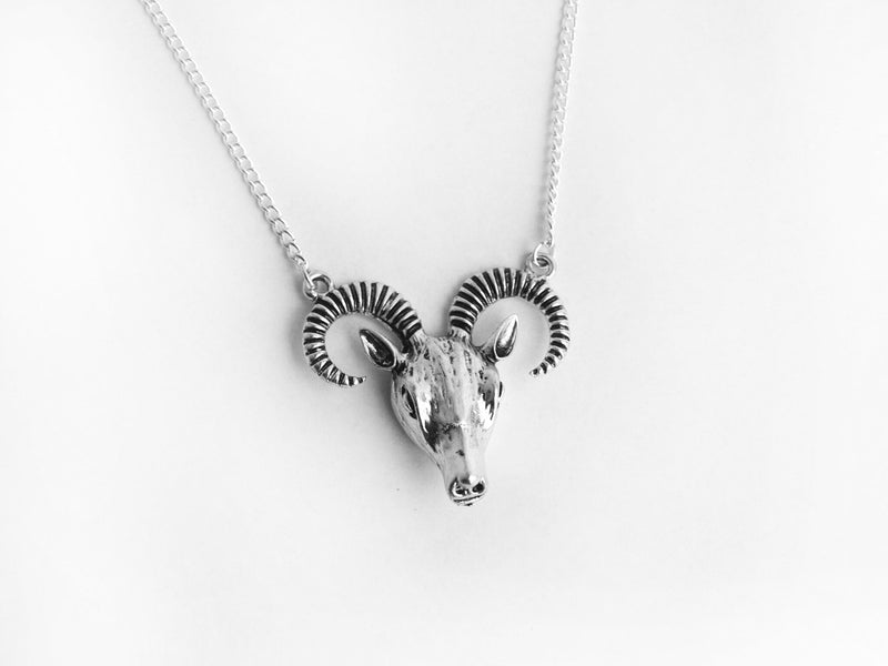 Silver Baphomet Necklace #N12 - Fux Jewellery