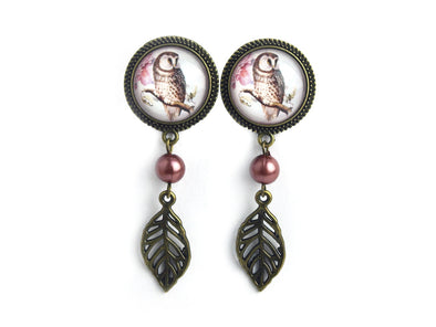 Owl Dangle Plugs • 22mm - Fux Jewellery