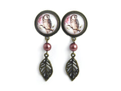 Owl dangle Plugs #412