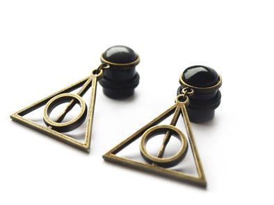 bronze Potter dangle Plugs #275 - Fux Jewellery