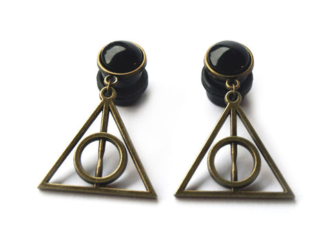 bronze HP dangle plugs #275