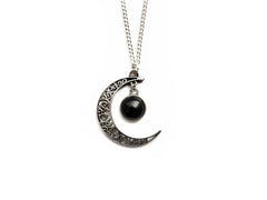 silver Magic Moon Necklace #N15