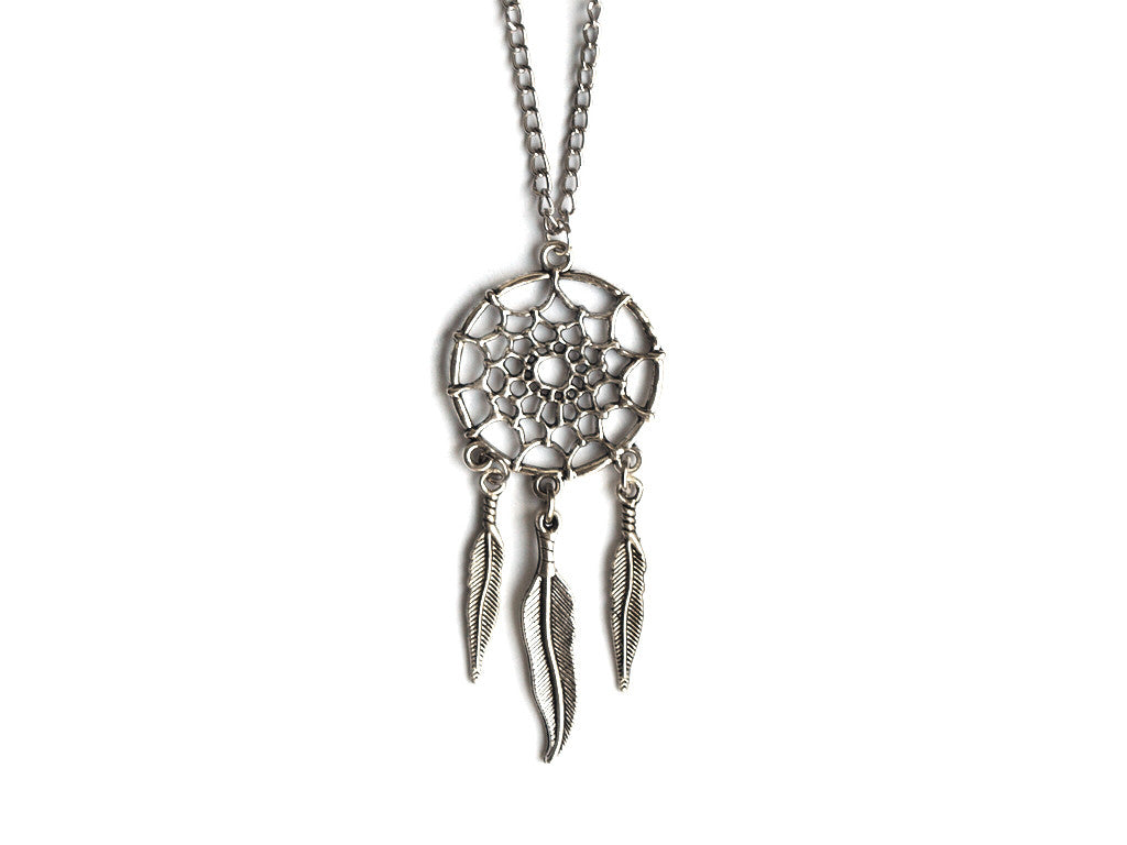 Silver Dreamcatcher Necklace | Fux Jewellery