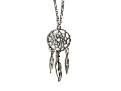 Silver Dreamcatcher Necklace #N18 - Fux Jewellery