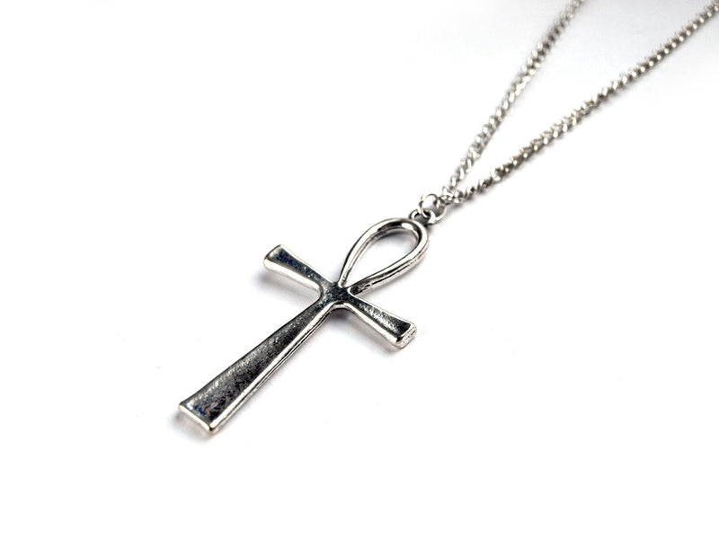 Silver Ankh Necklace #N21 - Fux Jewellery