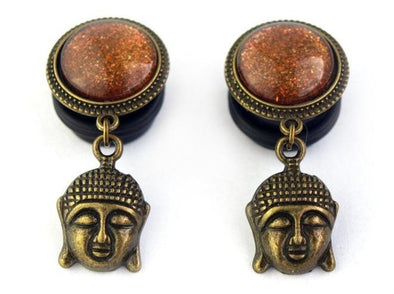 Bronze Buddah Plugs • 16mm - Fux Jewellery