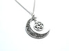 Pentacle Crescent Moon Necklace #N22 - Fux Jewellery