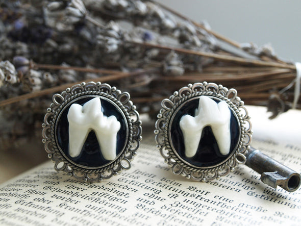 Silver Teeth Plugs round #031 - Fux Jewellery