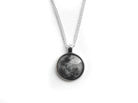 Silver Full Moon Necklace #N28 - Fux Jewellery