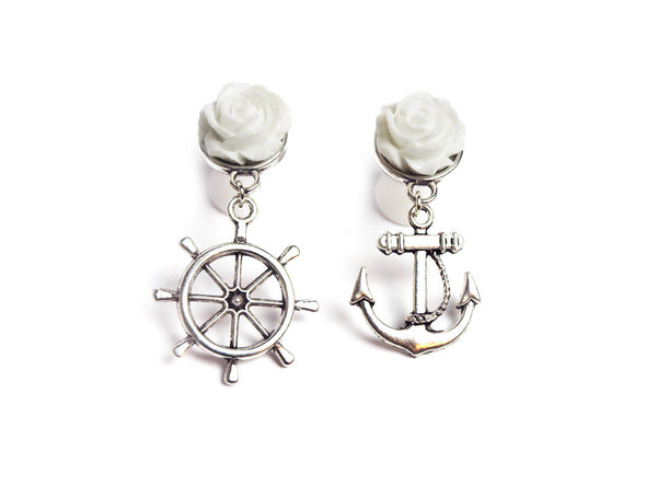 White Sailor Mix Plugs - Fux Jewellery