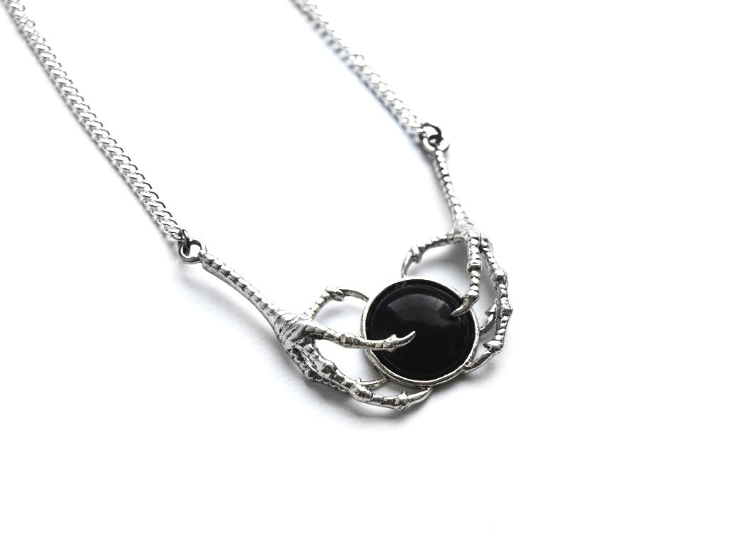 Black Double Claw Necklace | Fux Jewellery