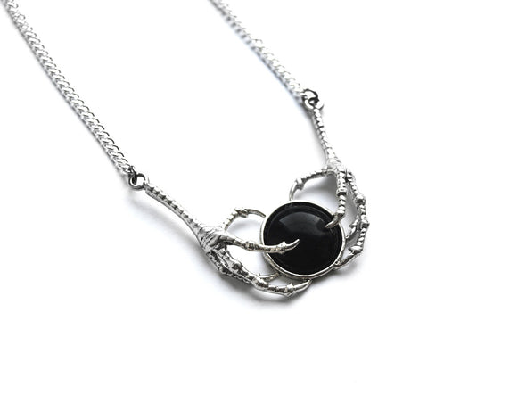 Black Double Claw Necklace #N31 - Fux Jewellery