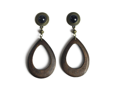 Bronze Wood Pendant Plugs #365 - Fux Jewellery