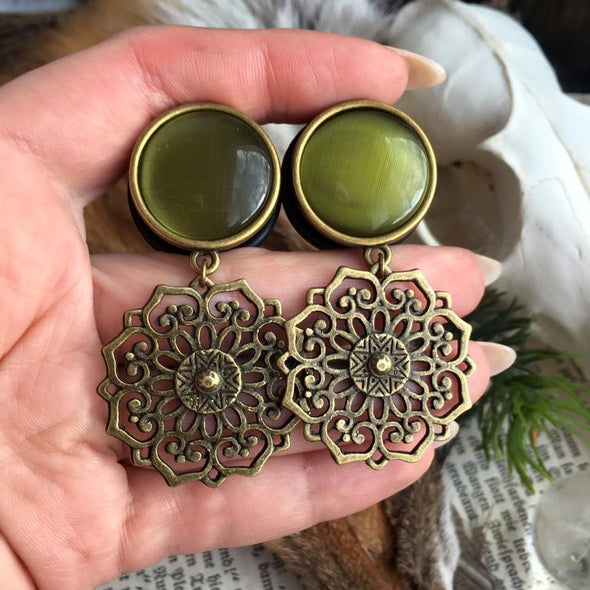 Brass Mandala Plugs #717 - Fux Jewellery