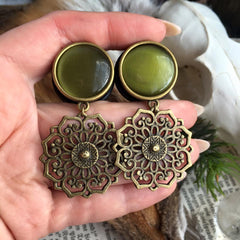 brass Mandala Plugs #717