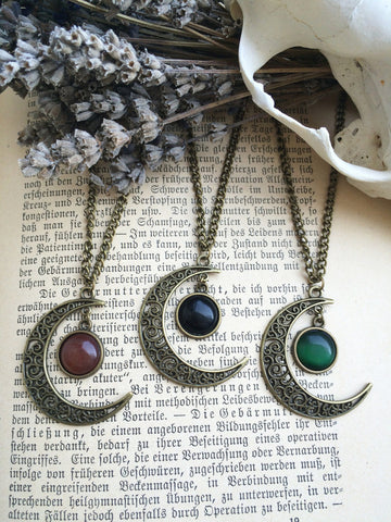 bronze magic Moon Necklace #471