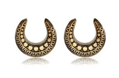 Aztec Brass Saddle Hangers #BH15 - Fux Jewellery
