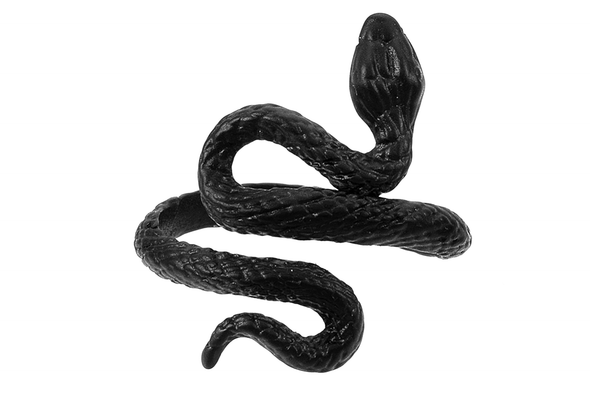 Black Serpent Snake Ring #R02 - Fux Jewellery