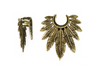 Bronze Feather Brass Hangers #BH05 - Fux Jewellery