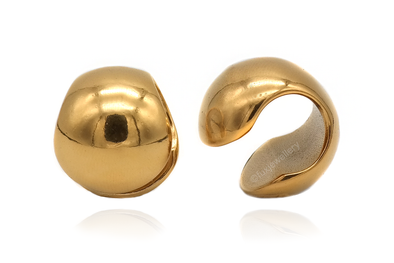 Golden Spherical Ear Weights #EW40-G - Fux Jewellery