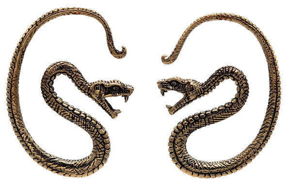 Golden Serpent Ear Weights