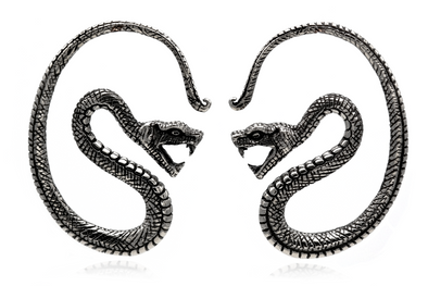 Silver Serpent Ear Weights