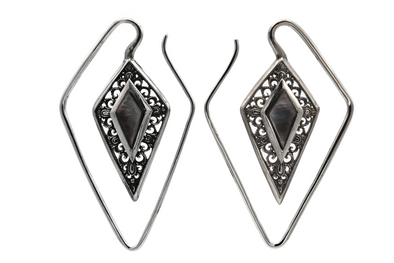 Silver Rhombus Ear Weights