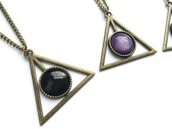 Bronze HP Stone Necklace #N02 - Fux Jewellery