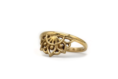 Golden Mandala Ring