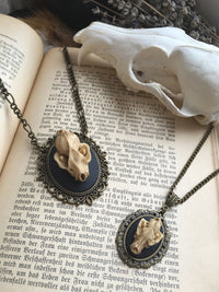 Replica Wolf Skull Necklace #N26 - Fux Jewellery