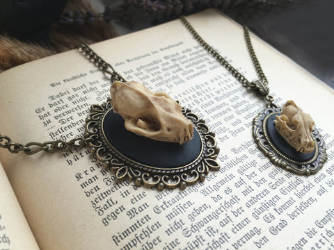 replica Wolf Skull Necklace #032