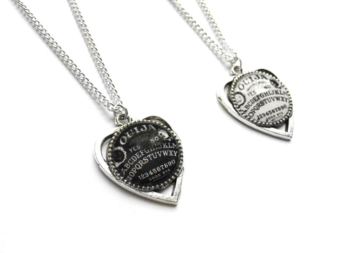 silver Ouija Planchette Necklace #507