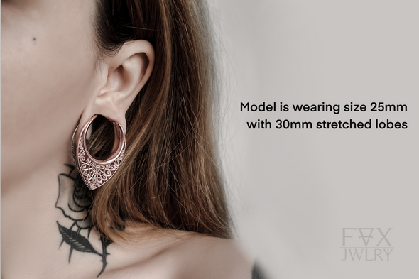 Rose Gold Ornate Ear Hangers
