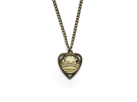 bronze Ouija Planchette Necklace #507-2