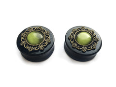 green tribal Plugs #513