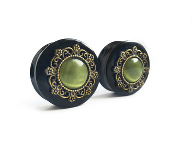 green tribal Plugs #513 - Fux Jewellery