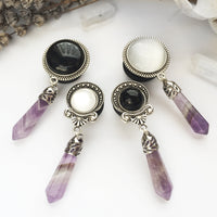 Small Amethyst Crystal Plugs #478 - Fux Jewellery