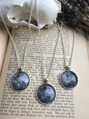 Silver Full Moon Necklace | Fux Jewellery