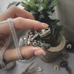 T-Rex Skull Necklace #495