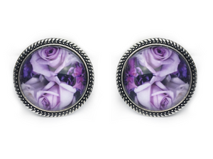 Purple Rose Plugs - Fux Jewellery