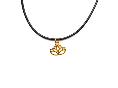 Golden Lotus Choker #CH10 - Fux Jewellery