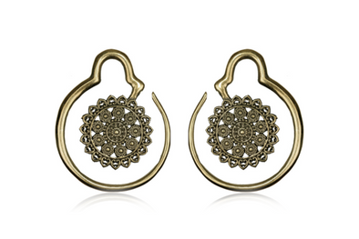 bronze Mandala Ear Weights #EW06 - Fux Jewellery