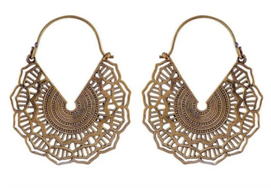 Golden Maya Hoops #BE20 - Fux Jewellery