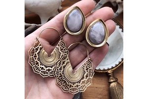 Golden Rose Quartz Teardrop Plugs #TD01 - Fux Jewellery